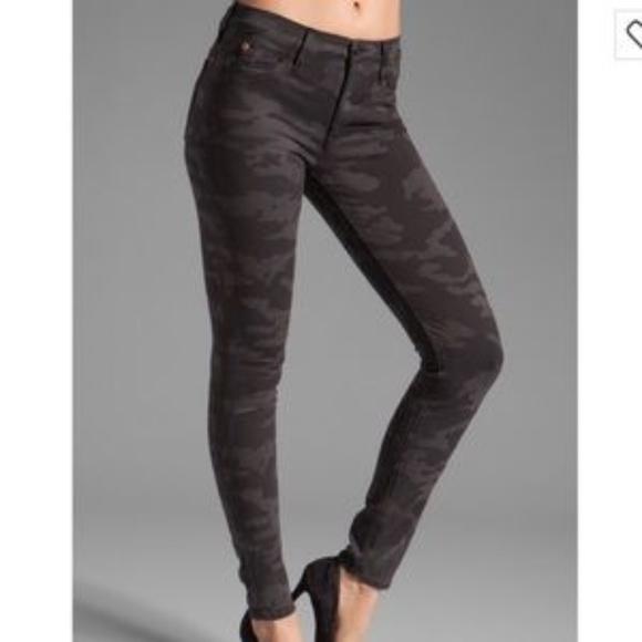 Hudson Jeans Denim - Hudson Nico Charcoal Camo Skinny Jeans 28